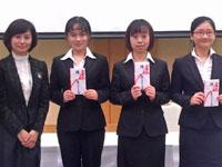 2016年度外国人留学生奨学金後期分贈呈式と卓話