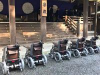 伊勢神宮に電動車椅子5台を献納しました